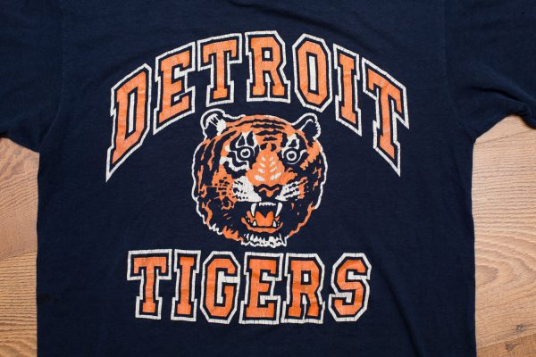 80s Detroit Tigers Logo 7 T-Shirt