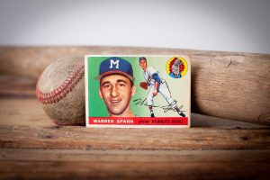 1955 Topps Warren Spahn Card