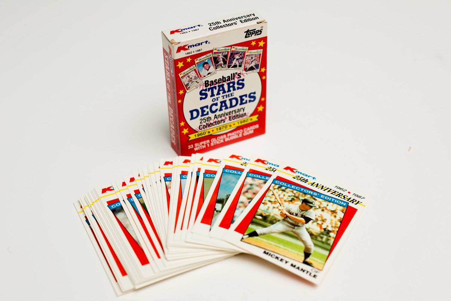 Vintage 1987 Kmart Baseball S Stars Of The Decades Set