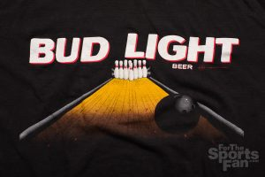 Vintage Bud Light Beer Bowling Ad T-Shirt