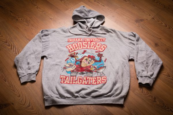 Vintage Taz Indiana Hoosiers Hoodie Sweatshirt