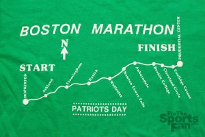 Vintage 80s Boston Marathon Route T-Shirt