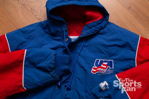 Vintage 90s USA Hockey Starter Coat