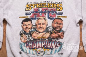 Pittsburgh Steelers Caricature Sweatshirt, Vintage 90s