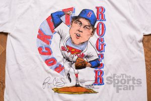 Roger Clemens T-Shirt, Vintage 80s Caricature
