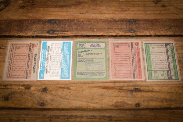 Rollie Fingers Baseball Card Lot, Vintage 70s-80s