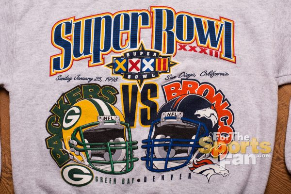 Super Bowl XXXII Sweatshirt, Broncos vs Packers